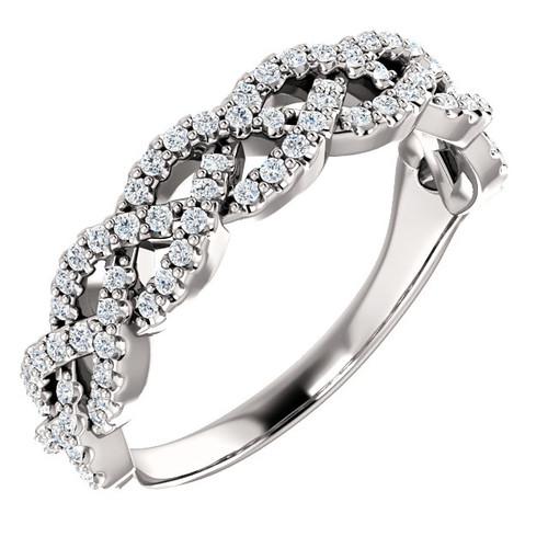 Diamond Braid Ring