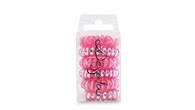 Dessata - No Pull Hair Ties - Fuchsia - 6 Pack