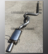 07-12 Nissan Sentra Exhaust - 3.0 inch Aluminized with Magnaflow