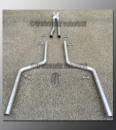 08-15 Dodge Challenger Dual Exhaust Tubing - 2.5 inch Stainless