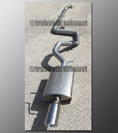 98-03 Ford Escort ZX2 Exhaust - 2.25 inch Aluminized with Borla