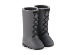 PetWORKs Closet - DecoNiki Shoes, Lace-up Boots, Dark Gray