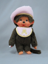 Monchhichi Pastel Berey Girls Light Pink Plush S Size