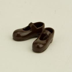 OBITSU BODY ACCESSORY - Obitsu Body 11cm Mary Jane Strap Shoes - Dark Brown