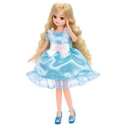 Licca-chan Dress: LW-02  Licca Ribbon Rose Party Dress Set