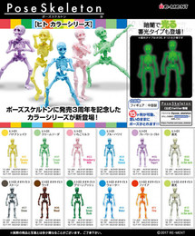 Re-Ment - Pose Skeleton Human Color Series - Human 01 / Big Human 03 Assorted
