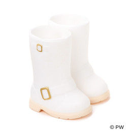 PetWORKs Closet - DecoNiki Shoes, Engineer Boots, White x Gold