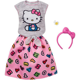 Barbie® Hello Kitty® Gray Top/Skirt Fashion