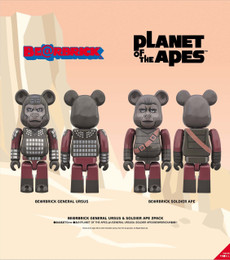 """*Pre-order due date: 2019/01/16 - BE@RBRICK """"Planet of The Apes"""" GENERAL URSUS & SOLDIER APE 2 Pack PRE-ORDER"""