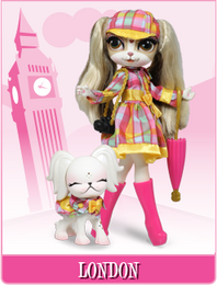 Pinkie Cooper Travel Collection Doll With Pet - London
