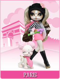 Pinkie Cooper Travel Collection Doll With Pet - Paris