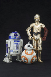 Kotobukiya Star Wars - The Force Awakens: ARTFX+ R2-D2 & C-3PO with BB-8