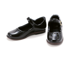 PetWORKs Closet - Mary Jane Flats Shoe, Enamel-Black
