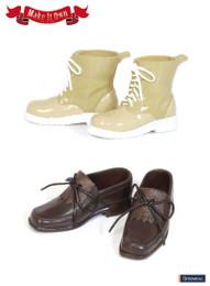 MS-004 - MIO Taeyang Tassel Shoe (Brown) X Short Boots (Beige)