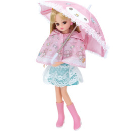 Licca-chan Dress: Licca-chan Loves My Melody Raincoat Set