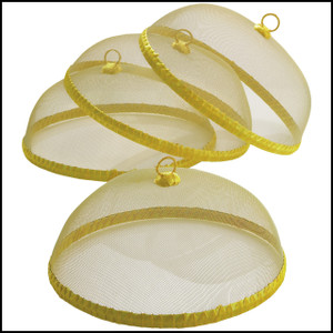 Yellow Food Domes, Set of 4, 14-Inch