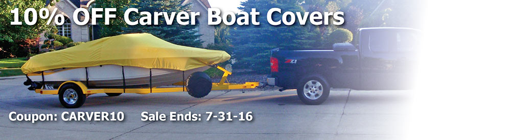 10% off Carver Boat Covers. Use Code: CARVER10