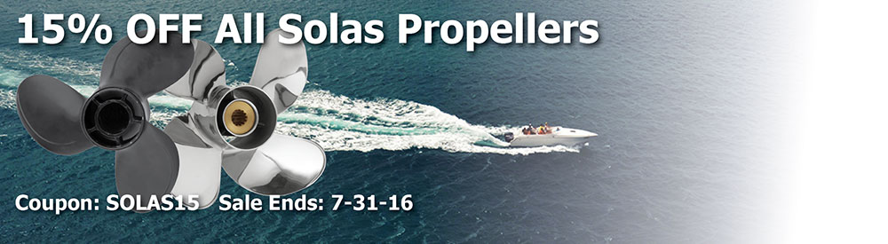 15% off Solas Propellers! Use Code: SOLAS15