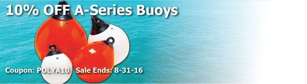 10% off Polyform A Series Buoys