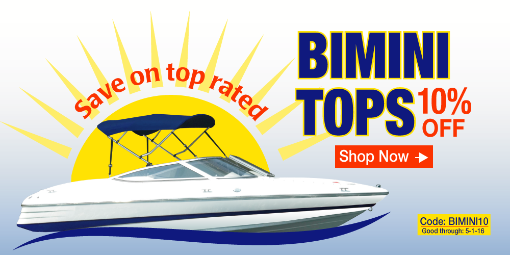 10% off Bimini Tops - Use Coupon Code BIMINI10