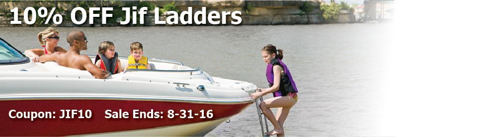 10% off Jif Boat Ladders