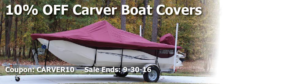 10% off Carver Boat Covers: Use Code CARVER10