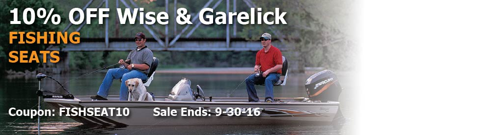 10% off Wise & Garelick Fishing Seats: Use Code FISHSEAT10