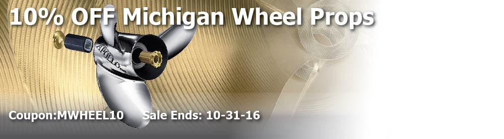 10% off Michigan Wheel Props Coupon: MWHEEL10 Ends: 10-31-16