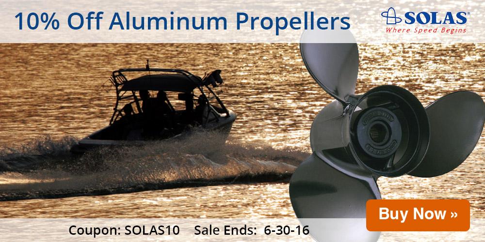 10% Off Solas Aluminum Propellers: SOlAS10