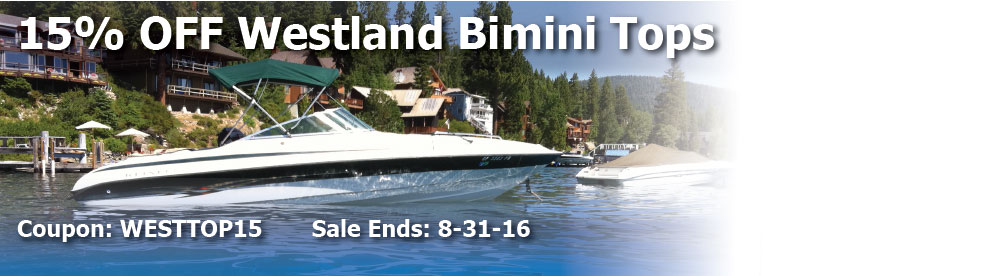 15% off Westland Bimini Tops