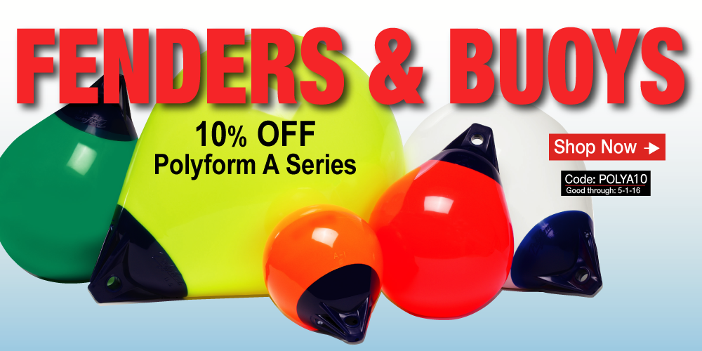 10% off Polyform A Series Buoys - Use Coupon Code POLYA10