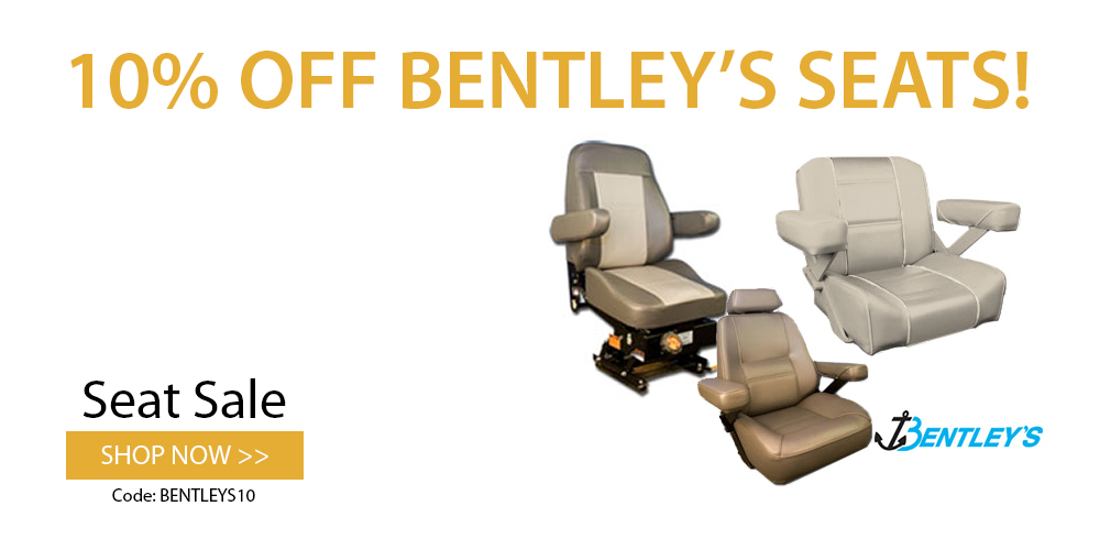 10% off Bentley's boat seats: use coupon code BENTLEYS10