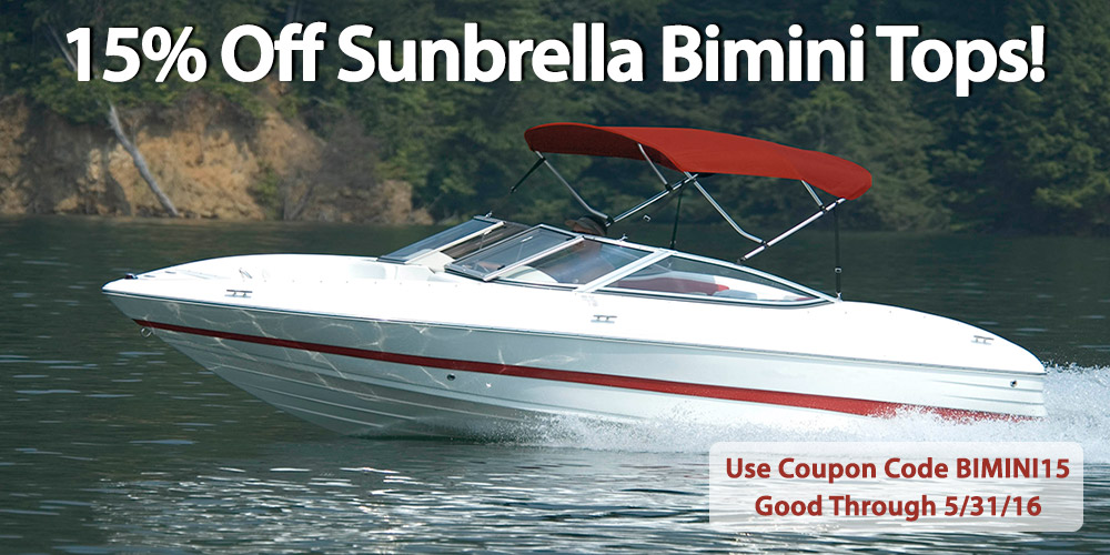 15% off Sunbrella Bimini Tops: Coupon Code BIMINI15