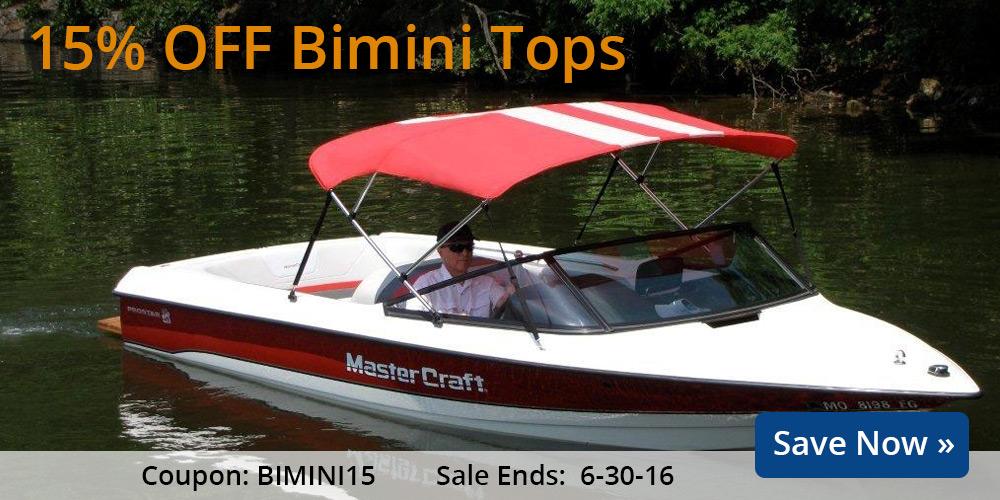 15% off Bimini Tops: BIMINI15