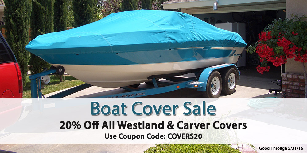 20% off Westland and Carver Boat Covers: Coupon Code COVERS20