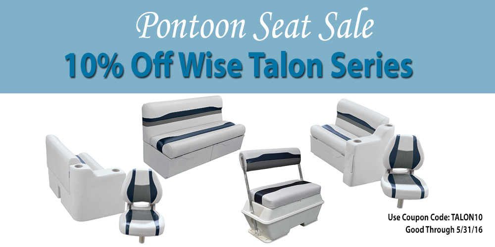 10% off Wise Talon series Pontoon Seats and Seat Sets: Coupon Code TALON10
