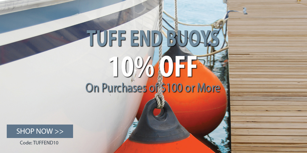 10% off Taylor Made Tuff-End Buoy orders of $100+ use coupon code TUFFEND10