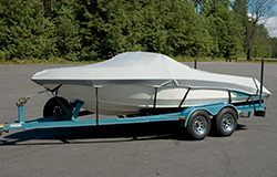 Custom boat covers are made for a specific boat model