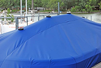 Vented boat cover support pole