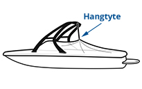 Hangtyte boat cover support system