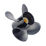 Boat propeller with pressed-in hub