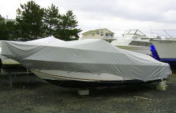 Universal boat covers to fit many boat styles in a given size range