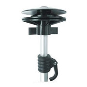 Westland boat cover support pole with snap end and snap patch