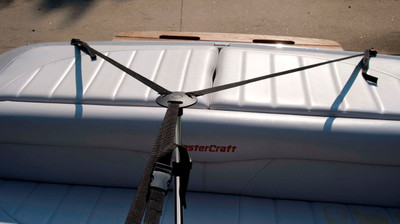 Carver boat cover support system center
