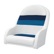 Wise Deluxe Pontoon Bucket seat in White/Navy/Blue