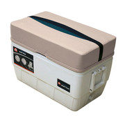 Wise Premier Pontoon 48 qt. Igloo Cooler Seat in Platinum/Navy/Cobalt BM11008