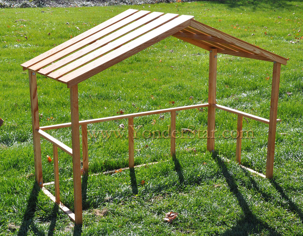 ... Wooden Stable For Large Outdoor Nativity Set