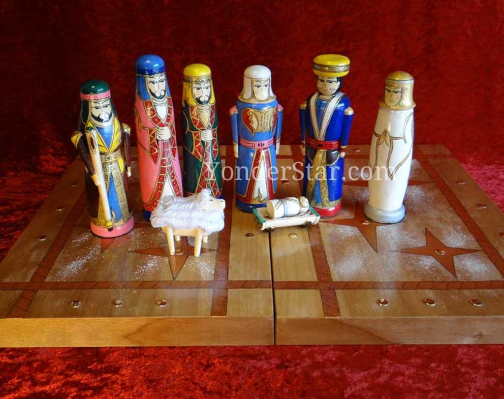Kyrgyzstan nativity scene wood