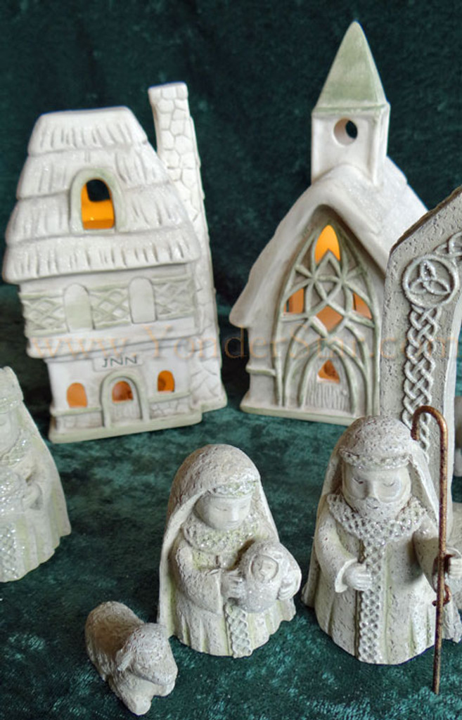 Lighted Celtic Nativity Scene and Village : Pre-Order