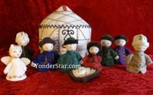 Kyrgyzstan nativity set